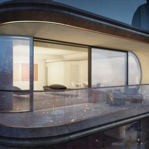 تصویر - طراحی داخلی مجموعه اقامتی 520West 28th، اثر زاها حدید، نیویورک - معماری