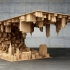 عکس - ترکیب واقعیت با طرحی مواج از شهر در یک میز قهوه خوری