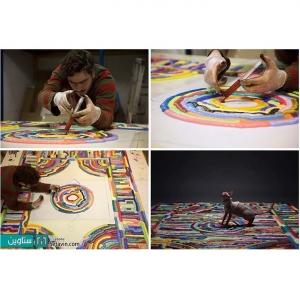 عکس - تابلو فرشهایی که از تزریق فوم مایع شکل گرفته اند