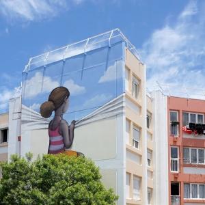 عکس - تبدیل نماهای خسته کننده شهری به آثار هنری بی نظیر توسط هنرمند فرانسوی
