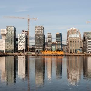 تصویر - ساختمان اداری DNB با پلکان عظیم ، اثر مشاور معماری Dark Arkitekter ، نروژ - معماری