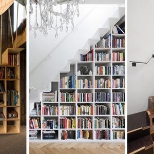 عکس - پلکان هایی چندمنظوره با کاربری همزمان قفسه کتاب