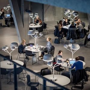 تصویر - طراحی خاص چراغهای قارچی شکل دانشگاه  Örebro سوئد - معماری