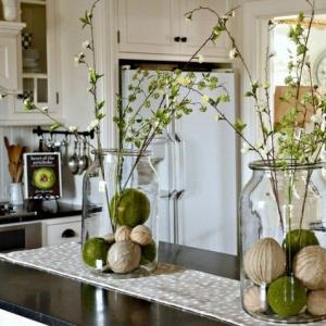 تصویر - ایده های بهاری ،تزئین گلدان های شیشه ای - معماری