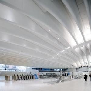تصویر - مرکز حمل و نقل مرکز تجارت جهانی ، اثر معمار Santiago Calatrava ، نیویورک - معماری