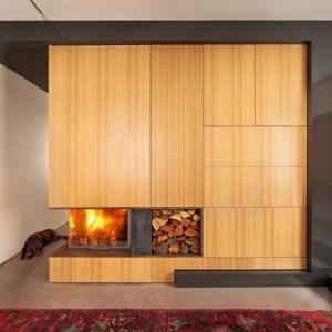تصویر - نمونه هایی از شومینه های هیزم سوز - معماری