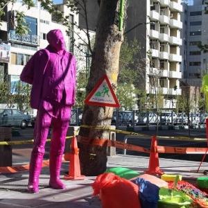 تصویر - آدم رنگی های خیابان ولیعصر تهران - معماری