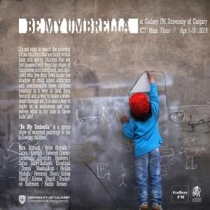 عکس - نمایشگاه نقاشی کودکان محلههای خاکسفید و فرحزاد در دانشگاه کلگری کانادا