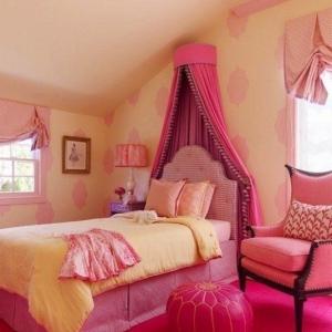 تصویر - 19 ایده برای تختخواب های سایبان دار اتاق پرنسس های کوچک - معماری