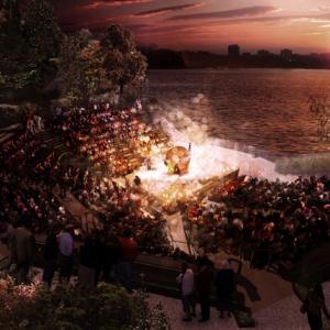 تصویر - اسکله 55 ، پلتفرمی برای اجراهای هنری در نیویورک - معماری