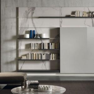تصویر - پنهان ساختن میز تلویزیون در طراحی - معماری