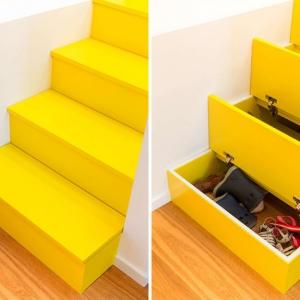 عکس - پلکانی خاص با فضای درونی مخفی