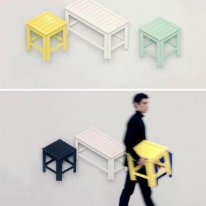 تصویر - تابلوهای هنری مدرنی که به مبلمان واقعی تبدیل می شوند. - معماری