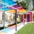 عکس - چشم اندازی رنگارنگ در باغ هتل le bristol پاریس
