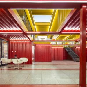 تصویر - پاویون Container Stack Pavilion ، اثر تیم معماری People Architecture ، چین - معماری