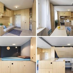 عکس - آپارتمانی کوچک مملو از ایده های خلاقانه