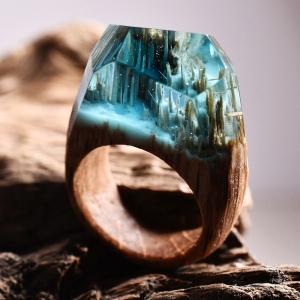 تصویر - حلقه های چوبی با تصاویر مینیاتوری بی نظیر - معماری