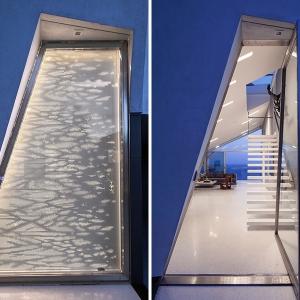 عکس - ایده ای برای طراحی درب ورودی