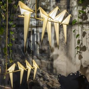 عکس - چراغهای پرنده اریگامی