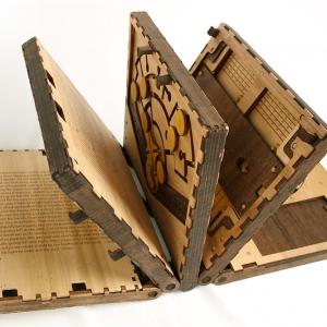 عکس - اگر قصد خواندن این کتاب را دارید،اول باید پازل ها را حل کنید.