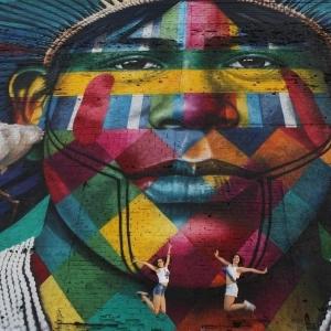 تصویر - رکورد بزرگترین نقاشی دیواری جهان به مناسبت المپیک 2016 ریو - معماری