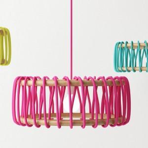 عکس - چراغ آویز ماکارون (Macaron Lamp) ، اثر طراح اسپانیایی Silvia Cenal Idarreta