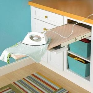 تصویر - ایده هایی برای جاسازی میز اتو - معماری