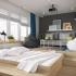 عکس - راه حلی هوشمندانه برای طراحی تخت خواب در آپارتمانهای کوچک