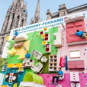 عکس - جداره یک آپارتمان به مثابه دیوار کوهنوردی , اثر شرکت IKEA ، فرانسه