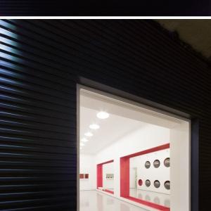تصویر - طراحی خاص دیوار یک باشگاه ورزشی - معماری