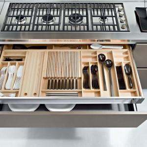 تصویر - همه چیز درباره تقسیم بندی کشوهای آشپزخانه - معماری