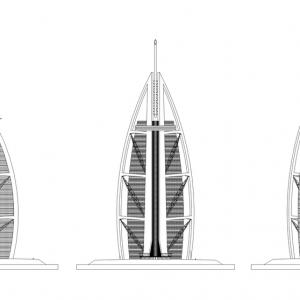 تصویر - برج العرب ( Burj al Arab )  اثر تیم معماری Tom Wright at WKK Architects , امارات متحده عربی - معماری