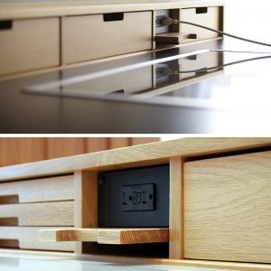 تصویر - ایده های طراحی آشپزخانه - مخفی کردن پریزهای لوازم برقی - معماری