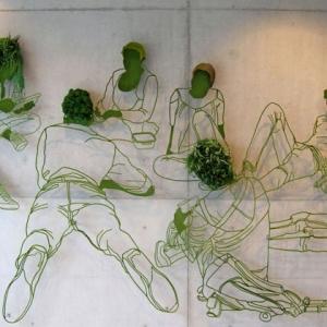 تصویر - اثری هنری با ترکیب فولاد و گیاهان سبز - معماری