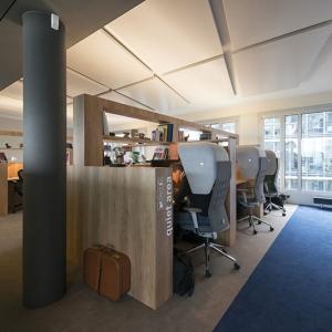 تصویر - طراحی دفتر کار با هدف ایجاد فضایی به دور از سرو صدا  - معماری