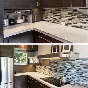 تصویر - ایده های طراحی آشپزخانه ، پنهان ساختن لوازم برقی داخل کابینت - معماری