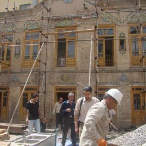 تصویر - بنای ضامن ، ضامن خانه امیری ، دفتر معماران بن ، مشهد - معماری