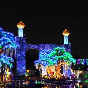 تصویر - نگاهی به دو پارک موضوعی جذاب در یک مکان ،پارک نور و پارک دایناسورها - معماری