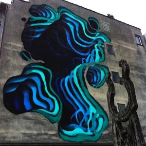 عکس - نقاشی های سه بعدی بر روی دیوار ساختمانها