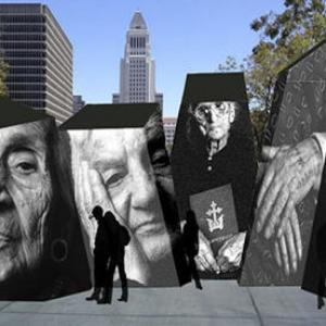 تصویر - چیدمان تعاملی در یادبود قربانیان قتل عام ارامنه - معماری
