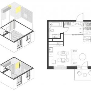 تصویر - نگاهی به ایده ای مبتکرانه در طراحی یک آپارتمان بسیار کوچک - معماری