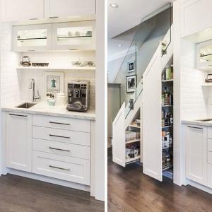 تصویر - قبل و بعد،طراحی هوشمندانه فضای زیر پلکان خانه ای در تورنتو - معماری