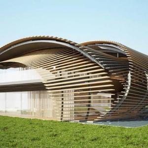تصویر - جوانه گندم , پیشنهاد معمار مطرح ژاپنی برای اقامتگاه جنگلی - معماری