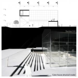 تصویر - خانه مکعب ، منتخب دومین دوسالانه ی معماری ، شهرسازی و طراحی داخلی ایران 1395 ، دفتر معماری هرم ،البرز - معماری