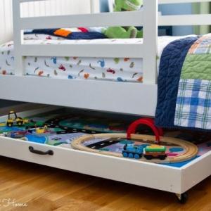 عکس - ایده هایی برای استفاده مفید از فضای زیر تختخواب