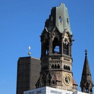 تصویر - کلیسای یادبود کایزر ویلهلم , کلیسایی به سبک نئورومانسک , اثر طراح Franz schwechten , آلمان - معماری
