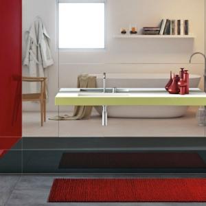 تصویر - سینک خاص کف شیشه ای - معماری