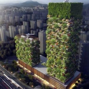 عکس - رونمایی از طرح اولین برج باغ آسیایی