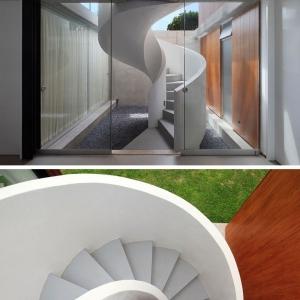 تصویر - 16 نمونه پله مدرن مارپیچی - معماری
