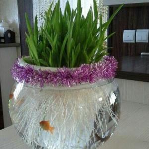 تصویر - ایده هایی برای تزئین تنگ ماهی سفره هفت سین - معماری